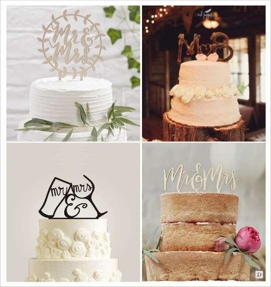 decoration mariage vignoble figurine gateau pic à gateau en bois verre à pied en plexiglas monogramme en bois
