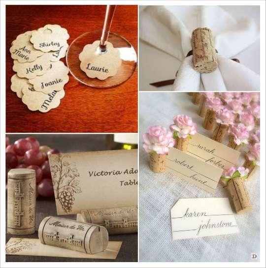 decoration mariage thème vin marque place bouchon de liège