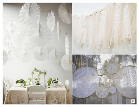 Decoration mariage vintage retro - Decoration avec papier ...