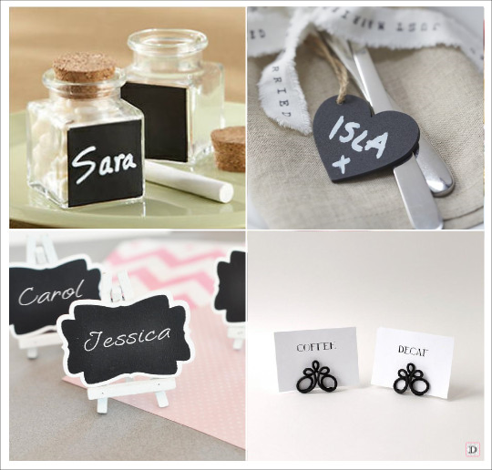 Decoration mariage vintage retro for Porte nom de table