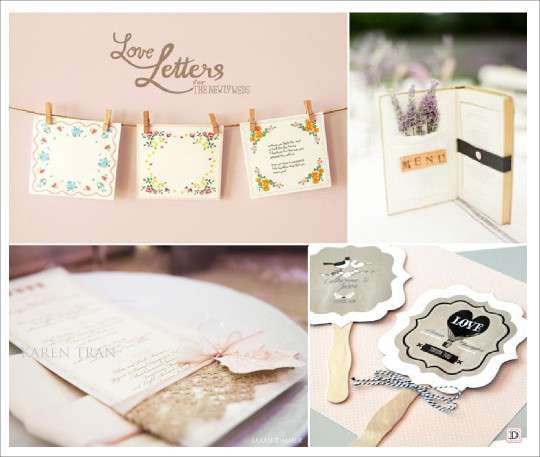 Decoration mariage vintage retro for Idee de menu original
