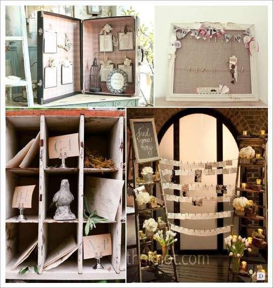 Decoration mariage vintage retro - Tableau plan de table mariage ...