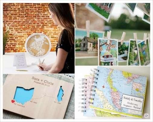 mariage voyage livre d'or cadre mappemonde cartes postales carte géographique