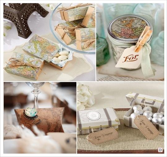 mariage voyage cadeaux boites valise bocal en verre pedentif boussole