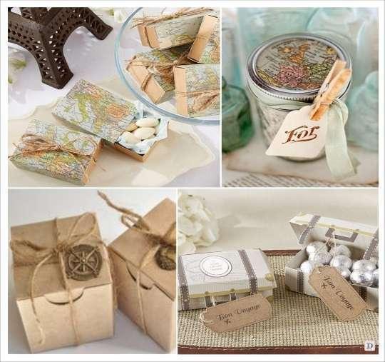Deco mariage theme voyage 1001 id es - Cadeaux invites mariage fait maison ...