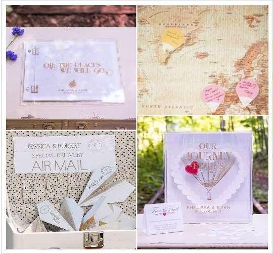 mariage voyage livre d'or acrylique mappemonde avions à messages