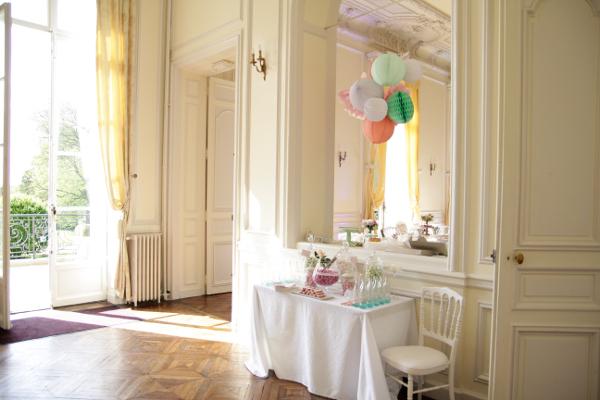 decoration mariage plafond lampion boule alveole