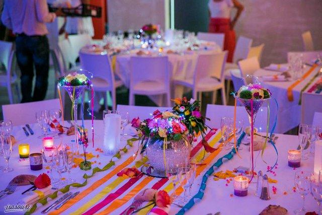 La décoration de Rim et Arnaud  thème des couleurs
