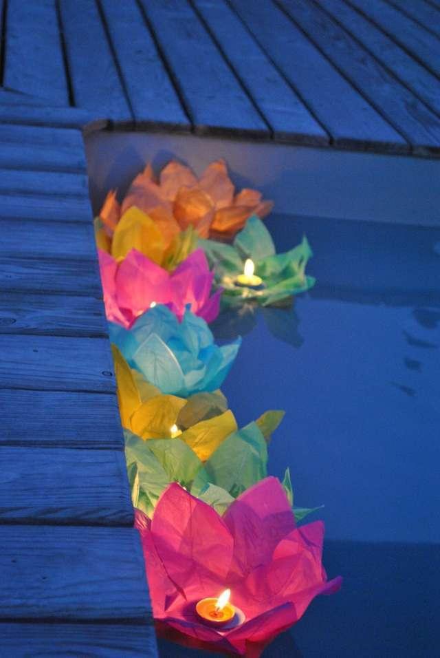 nenuphar sur eau decoration mariage bassin