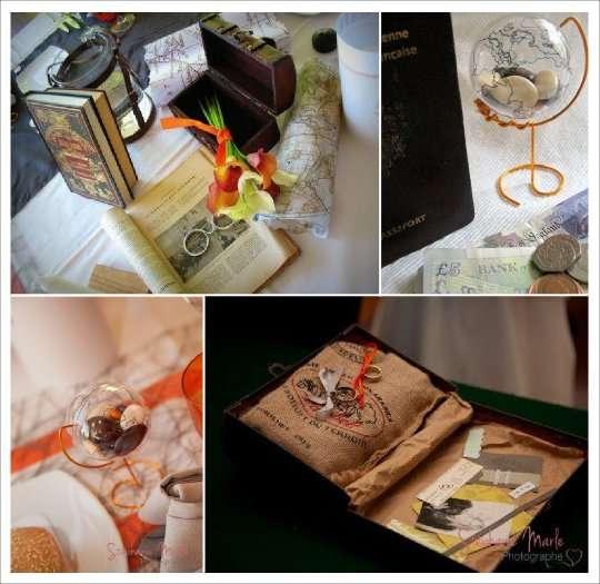 decoration mariage voyage livre d'or