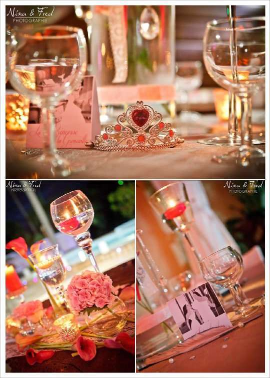 Mariage contes de fee gris rose - Decoration conte de fee ...