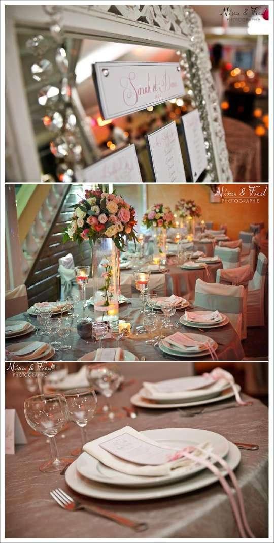 decoration mariage contes de fee gris rose