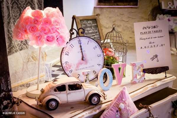decoration de salle mariage vintage retro