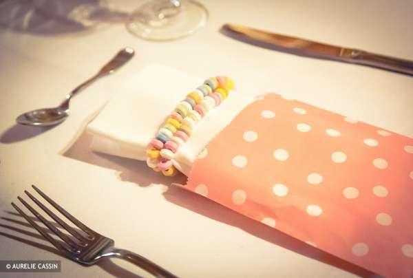 mariage vintage  retro sac en papier candy bar