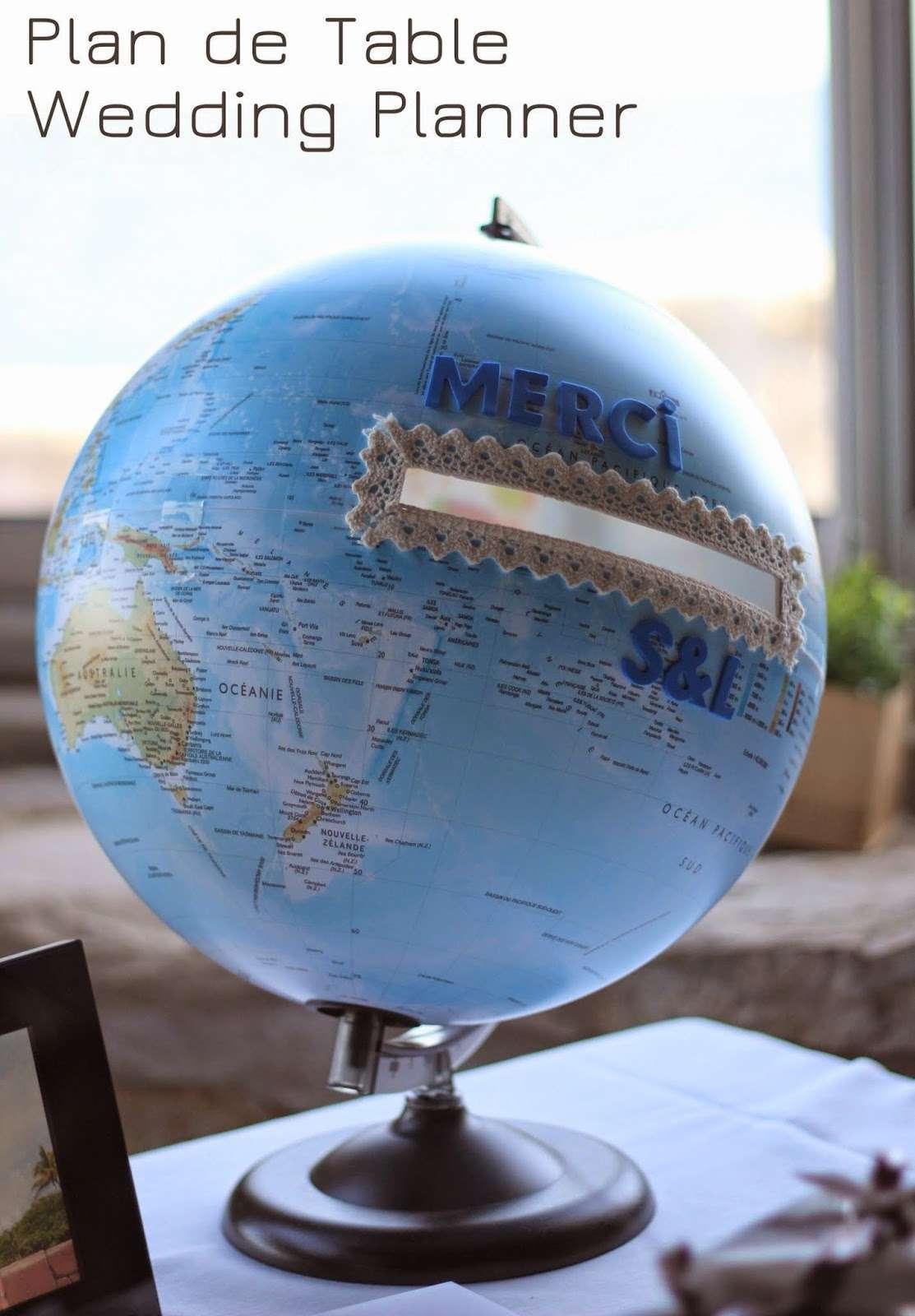 decoration mariage mer urne globe