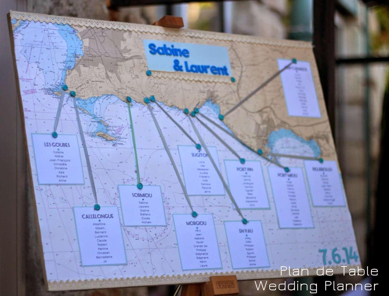 decoration mariage mer plan de table mappemonde