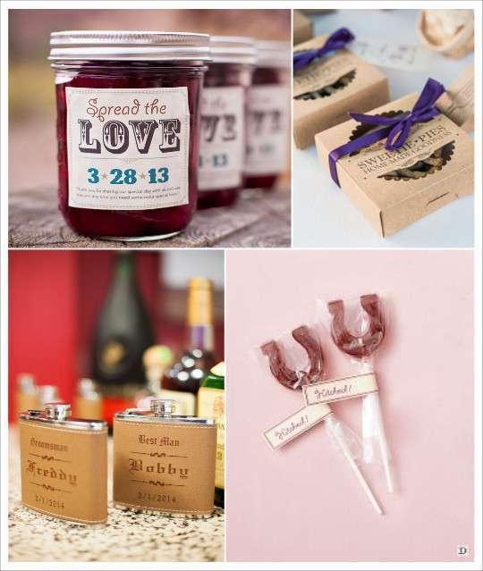 decoration mariage western country cadeaux invites pot confiture boite ...