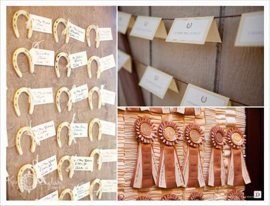 country western wedding decoration escort cards cardboard horse riding ...
