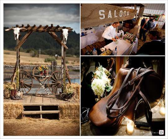 Country chic wedding western theme wedding and decoration for Decoration western country