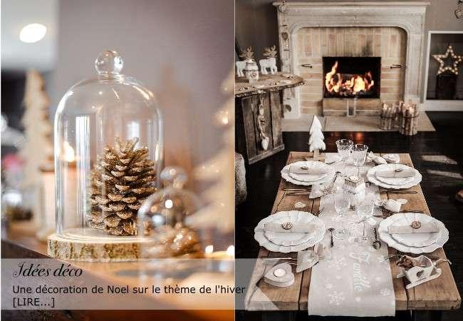 decoration thème hiver